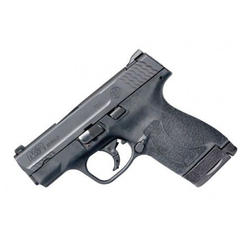 """Smith & Wesson 11808 M&P 9 Shield M2.0 Double 9mm Luger 3.1"""" 7+1/8+1 Black Polymer Grip/Frame Grip Black Armornite Stainless Steel"""