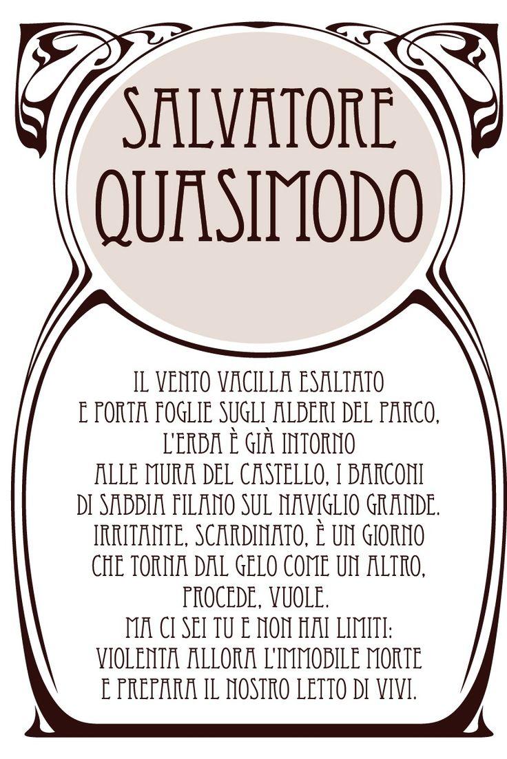 Salvatore Quasimodo  (grafica di Stefano Campagnoli, NETBrand srl)