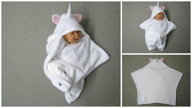 Schlafsäcke - star fleece baby wrap stern schlafsack einhorn - ein Designerstück von bighead5005 bei DaWanda
