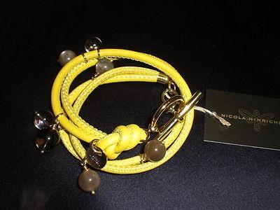 Armband Leder Bettelarmband Gold in Gelb von  Nicola Hinrichsen NEU  169.-€ nur € 159,00