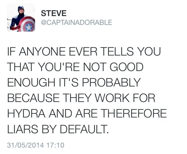 It's always important to listen to Steve Rogers.