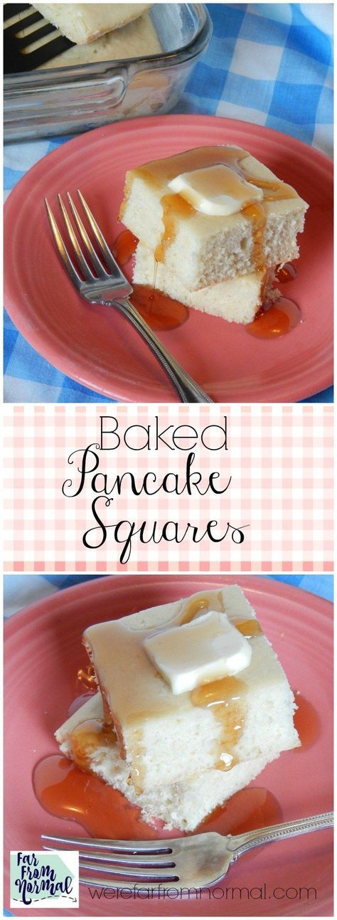 These baked pancake squares make breakfast a breeze! Bake them up on the weekend and have breakfast taken care of for the whole week!