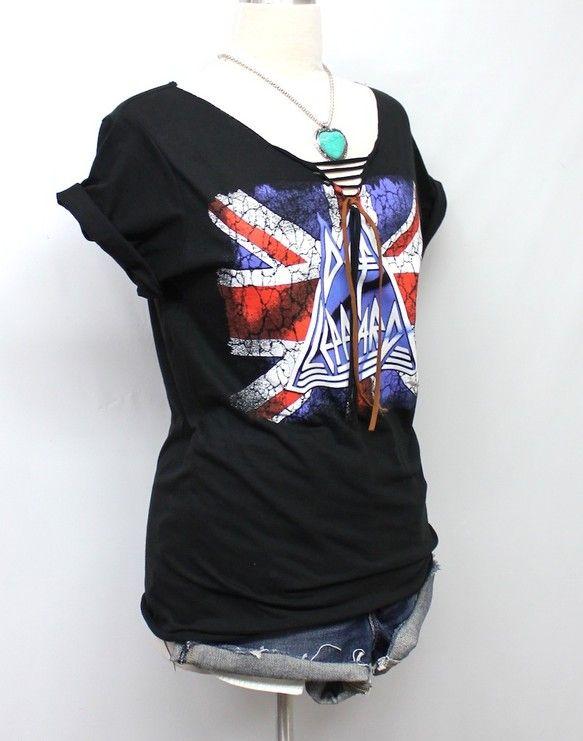 Los Angeles (ロス)在住の日系デザイナー、ジュリアによるロックTシャツのリメイク品です。Def Leppard は最近アメリカではあのKissとツ...|ハンドメイド、手作り、手仕事品の通販・販売・購入ならCreema。