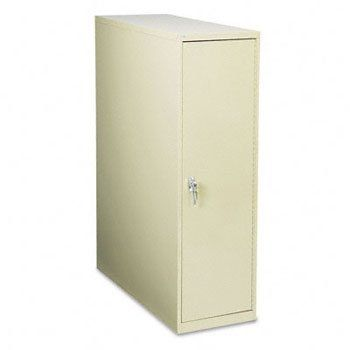 """Enclosed Vertical File Cabinet, 12 Hanging Clamps, 16w x 39d x 54-3/4h, Sand by Safco. $1207.00. Unique design allows high-density storage of documents on hanging clamps. Large format holds up to 12 (18"""" to 36"""") hanging clamps (sold separately). Suspended track slides out smoothly for easy access to documents. Door mounts on left or right for your personal comfort needs. Key locked handle. Rack Style: N/A; Mounting: N/A; Clamp Length: N/A; HUB Compliance: N/A."""
