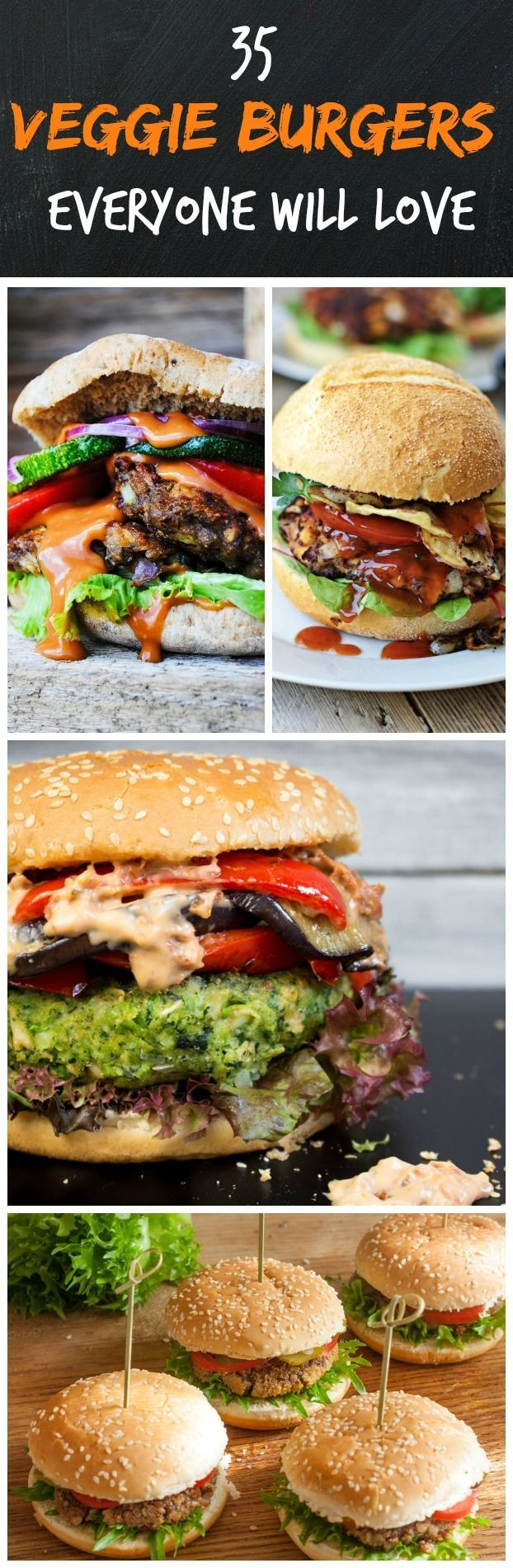 »A list of 35 totally drool-worthy veggie burgers that are perfect for meat-lovers, vegetarians, and vegans alike! Pair them with some crispy oven-baked wedges, a fresh salad, or some corn and you're in for a real treat« #vegan #burger #veggieburger #veganburger #food #foodideas #recipe