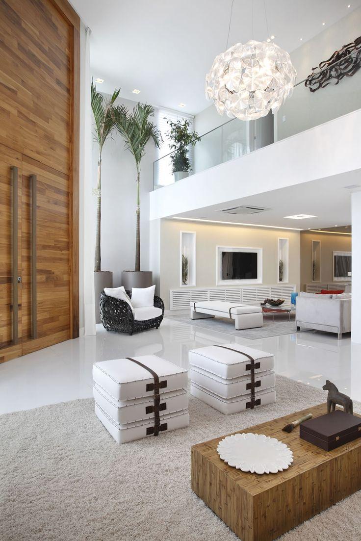 Blog de Decoração e Arquitetura : Casa com pé direito duplo moderna – veja dicas de decoração e conheça todos os ambientes!