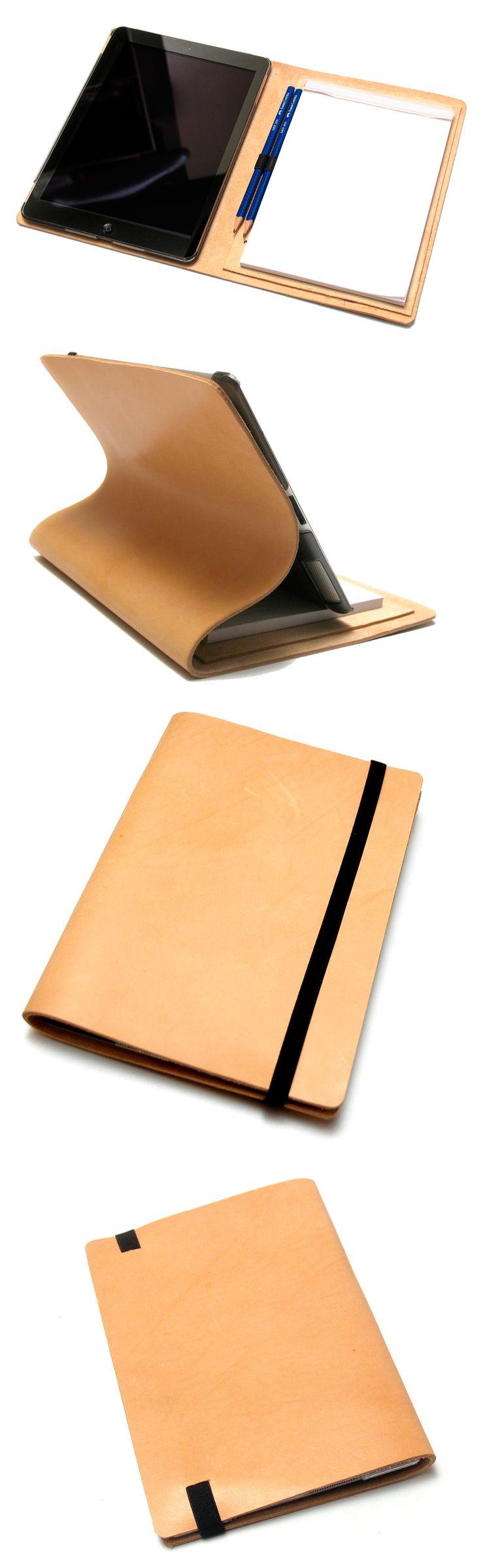 iPadcover i kernelæder med A5-notesblok