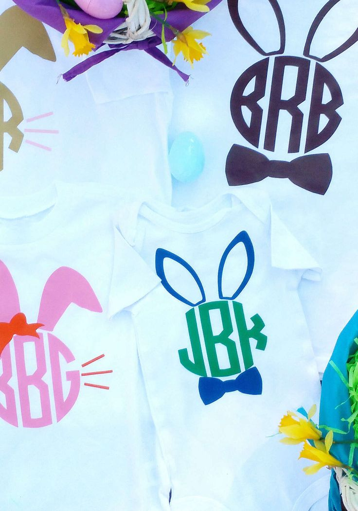 Suit up for your Easter egg hunt in monogrammed Easter Bunny shirts. The family photo will be a keeper!