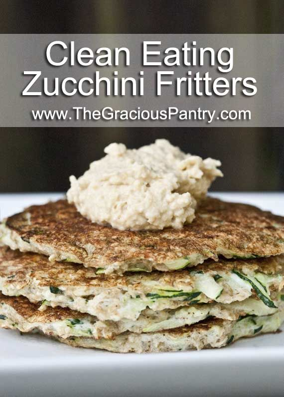 Zucchini Fritters - skip the hummus and use GF oats for FODMAP.  If you need something on top, try feta or lactose free yogurt or sour cream.