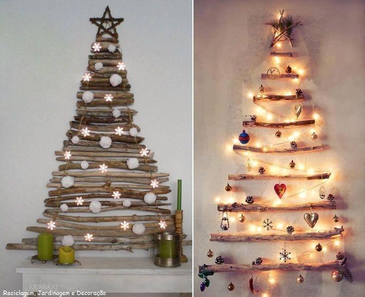 Arboles de Navidad con troncos
