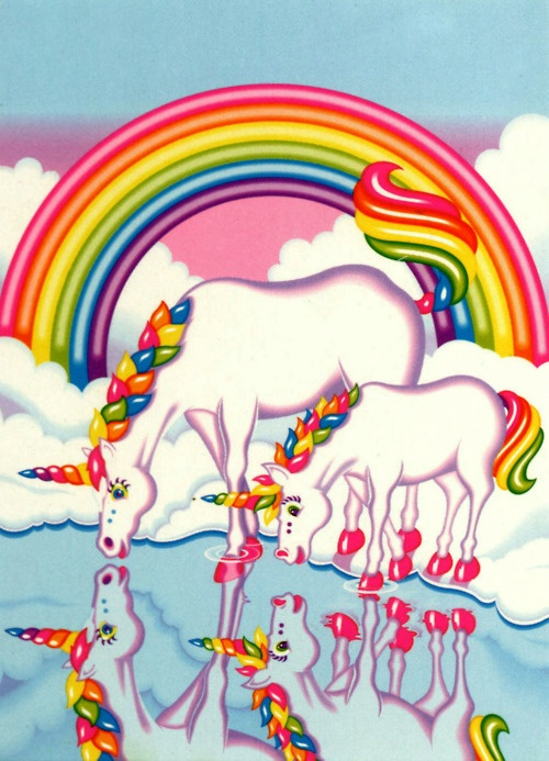 Lisa frank! I totally had this as a folder, binder, pencils....and it was considered cool!