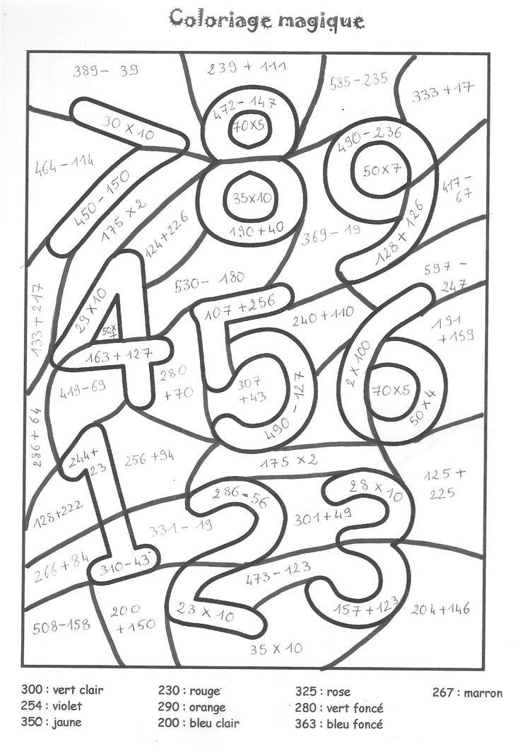 11 Simple Dessin A Colorier En Ligne Stock   Coloriage magique, Coloriages magiques maternelle ...