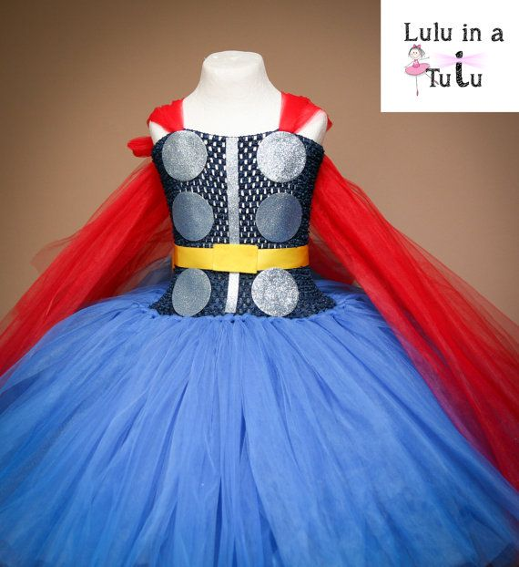 Classic Thor Inspired Tutu Dress Super Hero from by LuluInATutuUK
