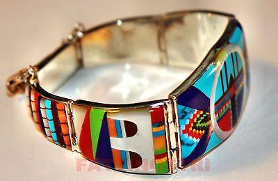 Indianerschmuck Armreif ZUNI Design Silber Bikerschmuck