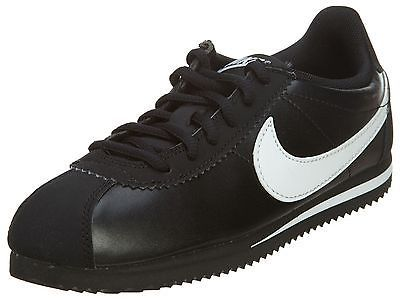 Nike Cortez Gs Big Kids 749482-001 Black White Running Shoes Youth Size 4
