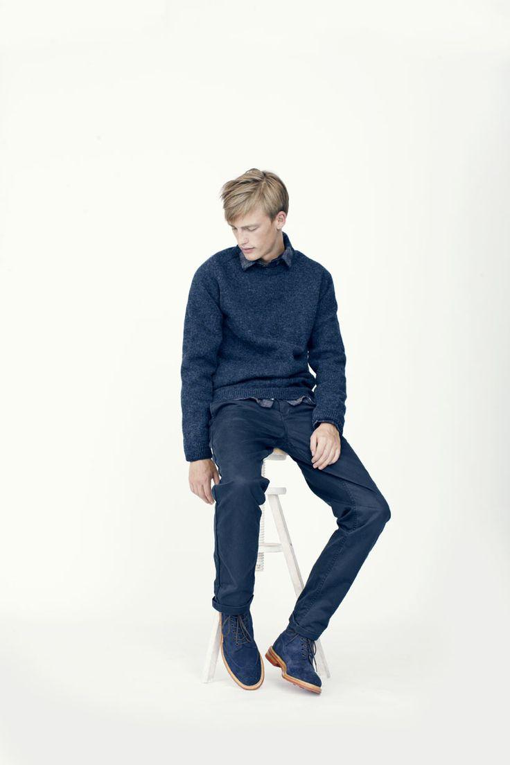 Gaukur Knit, Anton Wool Shirt, Arnkell Light Chino  Footwear from Tricker's.