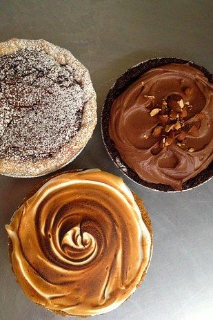 A slice of pie — like sugar cream or chocolate chess — Hoosier Mama Pie Company.   23 Delicious Chicago Eats That Are Worth Every Penny