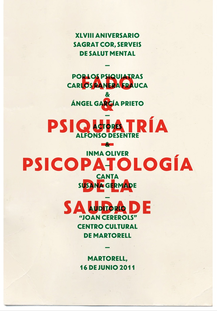 Fado & Psiquiatría / studio aparte