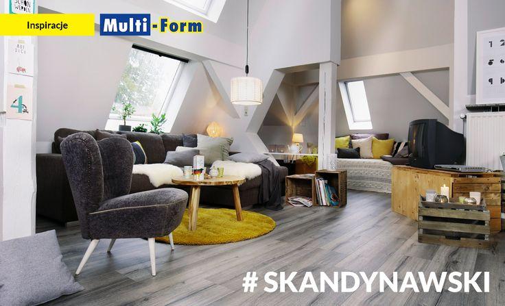 Wnętrze inspirowane stylem skandynawskim - na pierwszym planie podłoga Wineo Oak Silver