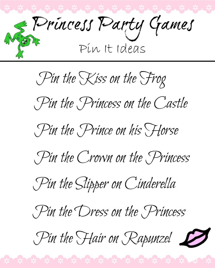 Princess Party Game Ideas