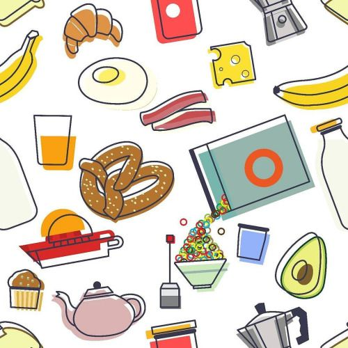 #breakfast #mywork #food #banana #pretzel #orange #juice #tea #teapot #moka #macchinetta #eggs #bacon #cheese #croissant #avocado #toast #cibo #kitchen #pattern #texture #mug #pillow #pirategraphic #available on @redbubble http://ift.tt/2ijMFCY...