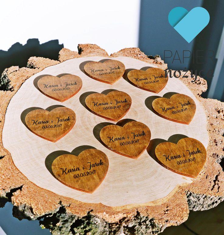 Magnesy dodawane do zaproszeń na ślub? Bardzo fajny pomysł Pani Kasi, która wręczała taki upominek prosząc na Ślub swoich najbliższych :)