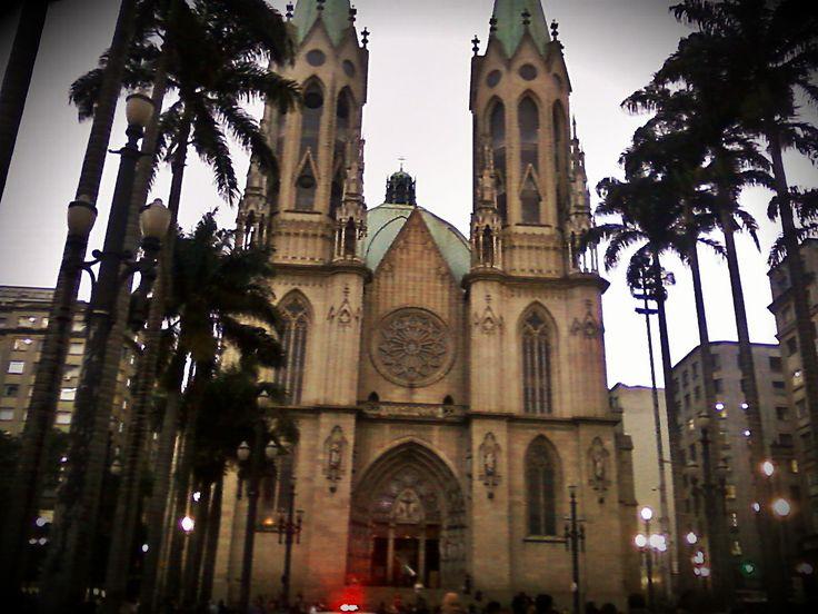 Catedral da Sé. Marco zero de São Paulo São Paulo - SP - Brasil