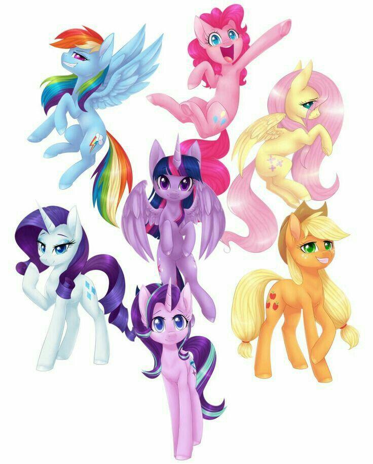 Todas las amigas ponys 😀 | Imagenes de ponis, Artesanías de niños, Dibujos