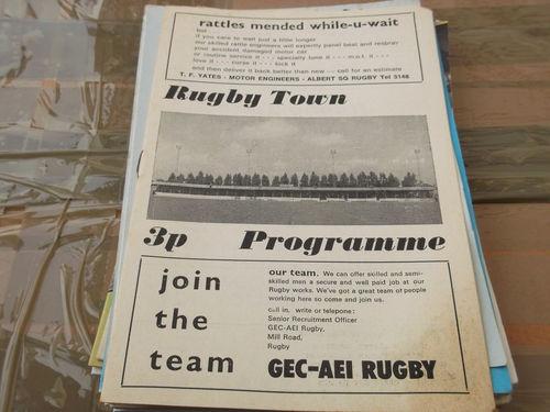 Away vs Rugby Town ,  King's Lynn FC 1971-2
