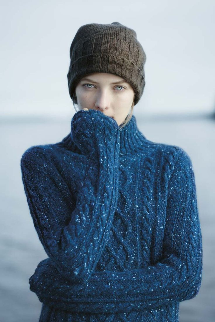 Fisherman-style sweater and simple hat. Toast AW12 lookbook. #knitinspiration