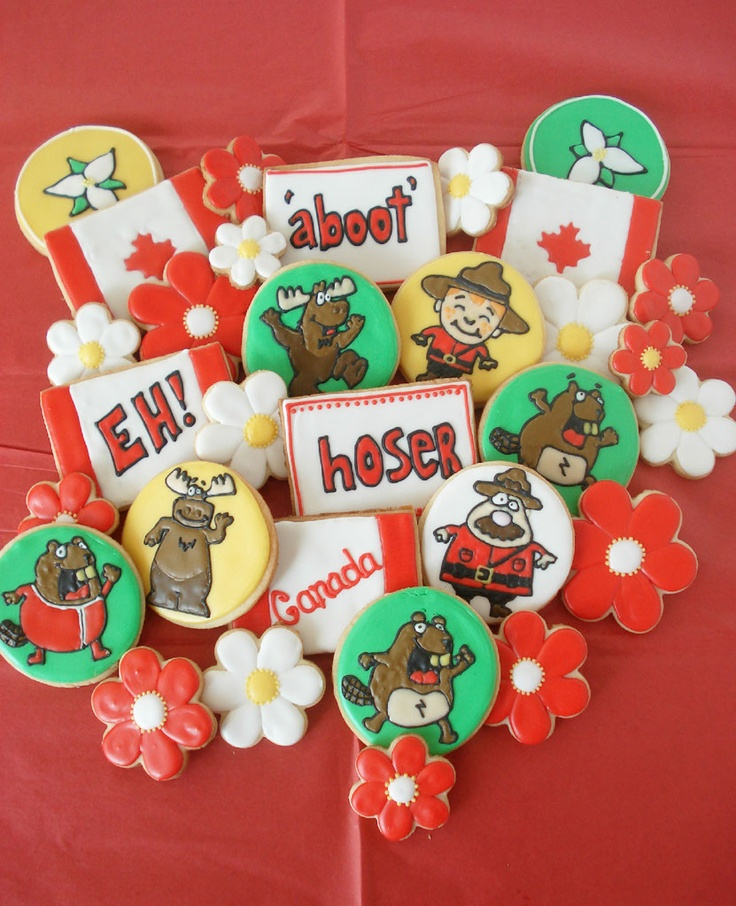 Canada Day Cookies!!