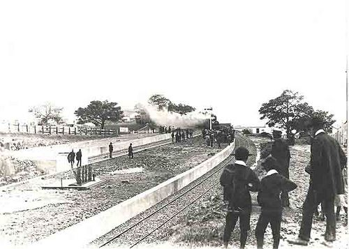 Kiama Railway Station - arrival of first train. Dated: 02/06/1893 Digital ID: 17420_a014_a014000813 Rights: www.records.nsw.gov.au/about-us/rights-and-permissions