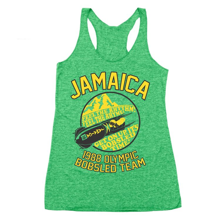 Jamaica 1988 Olympic Bobsled Team Racer Back Tri-Blend Tank Top