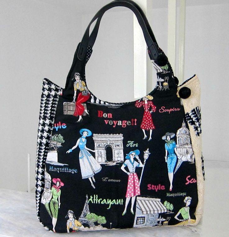 """''Go shopping"""" bag - RiRi Yfasma (RiRiYfasma.gr)"""