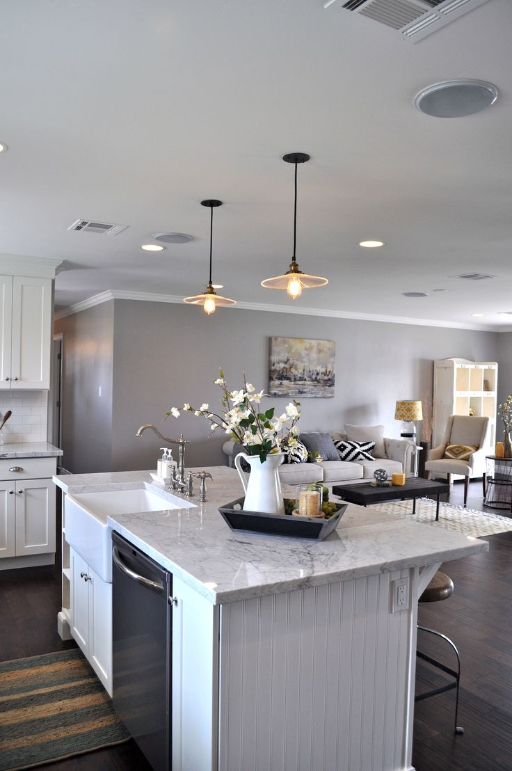 Open Concept Kitchen Layout By Rafterhouse
