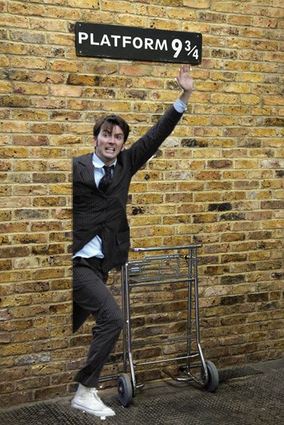 David Tennant + HP = awesome (credit: http://davidtennantinplacesheshouldntbe.tumblr.com/post/17583335090/yer-a-wizard-david)
