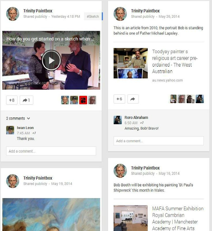 Keep up-to-date with us on Google Plus https://plus.google.com/+TrinitypaintboxArt