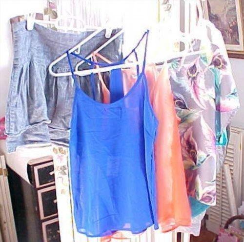 4.99$  Buy here - http://viukh.justgood.pw/vig/item.php?t=fziquj40664 - Women Clothing Mix Lot Charlotte Russe Old Nacy Xhilaration Orange Blue Casual M 4.99$
