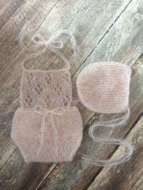 PDF Knitting Pattern  newborn prop_Clover romper by monkeymoomoo33