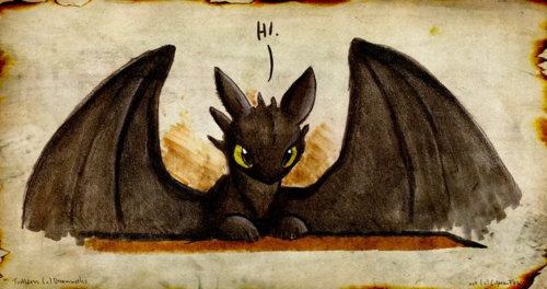 Toothless! I love How to Train your Dragon and I can't wait till June to see number two!