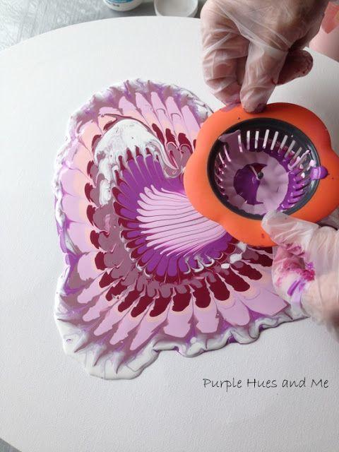 Malen Sie mit einem Sieb aus dem Purple Hues and Me-Blog