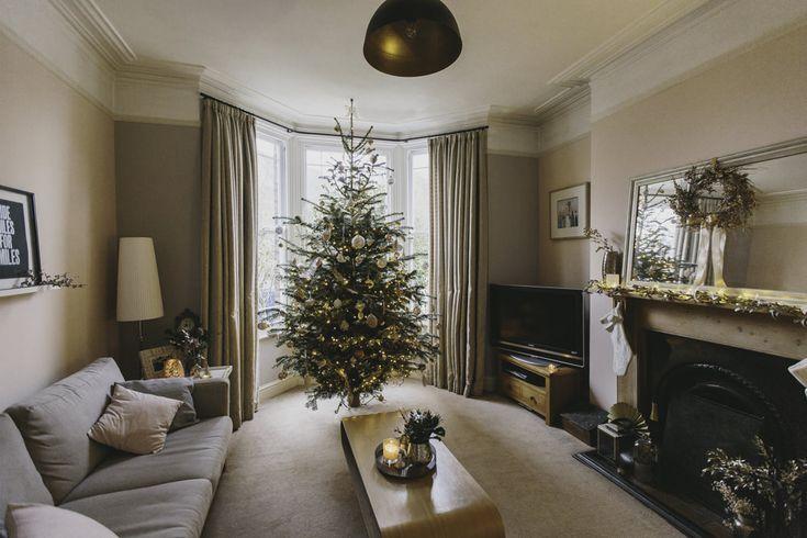 Blush and gold Christmas decor