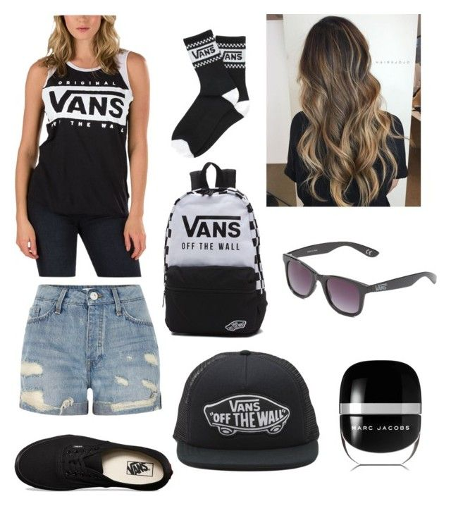 """Womens vans skater girl look"" by squiddles14 on Polyvore featuring Vans, River Island and Marc Jacobs"