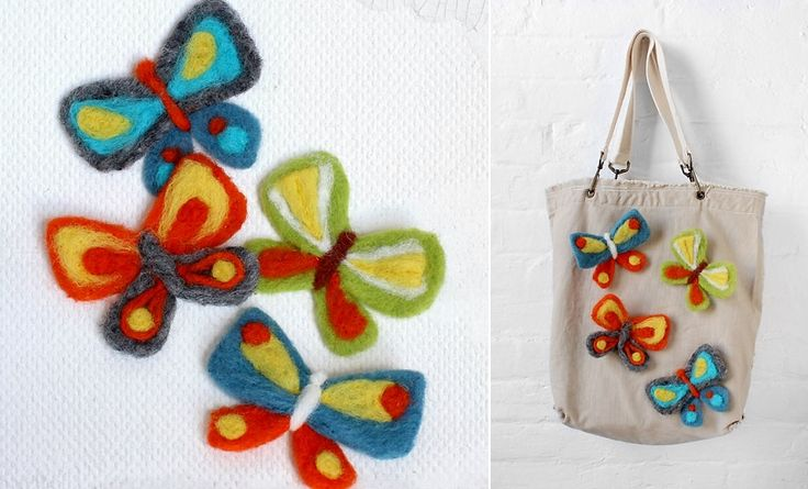 Super cute felted butterfly DIY