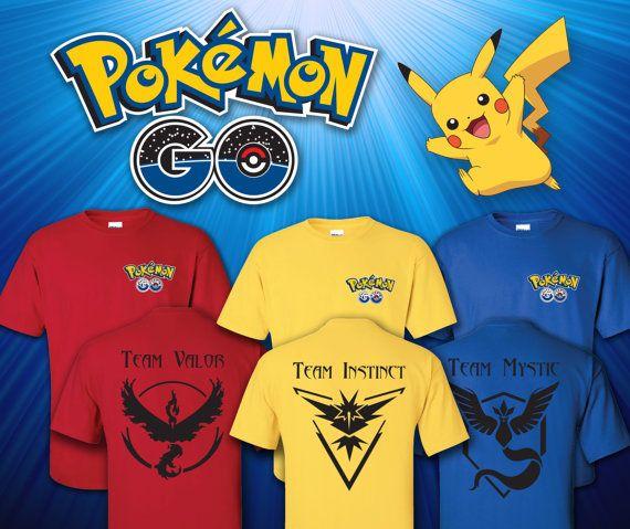 Camisetas de equipo Pokémon Go por AubreysAtticStudio en Etsy