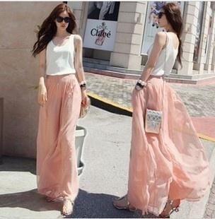 Peach maxi skirt <3