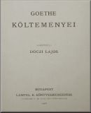 Johann Wolfgang von Goethe   Goethe költeményei