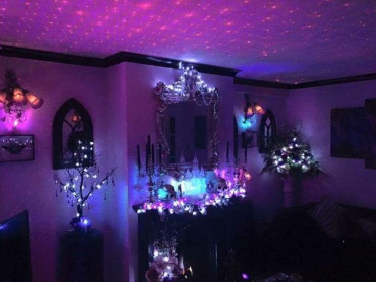 halloween lights and decor - Halloween Room Ideas