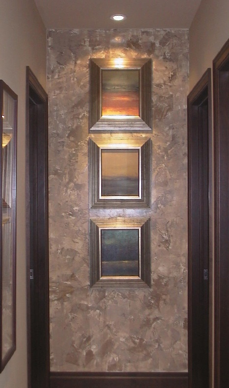 Venetian Plaster Accent Wall in Hallway