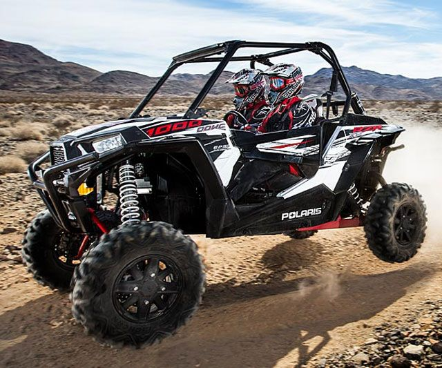 I ride my uncles whenever I visit them, but it would be awesome to own a Polaris rzr like the one shown here because they are a blast.